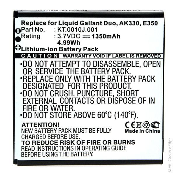 Mobile phone, PDA battery 3,7V 1350mAh for Acer Liquid Gallant