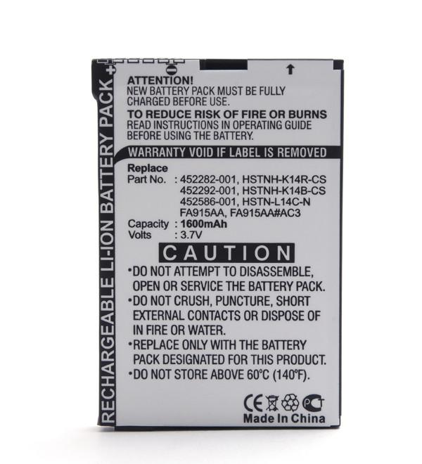 Mobile phone, PDA battery 3,7V 1600mAh for HP Compaq Ipaq 614