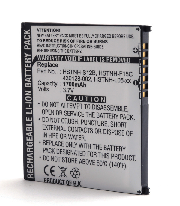 Mobile phone, PDA battery 3,7V 1700mAh for HP Compaq Ipaq 314