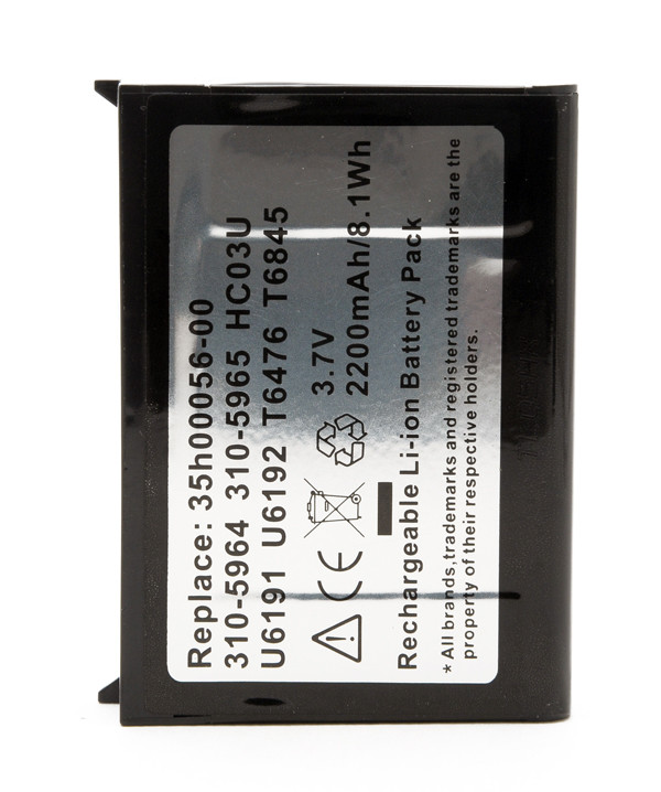 Mobile phone, PDA battery 3,7V 2200mAh for Dell Axim X51V
