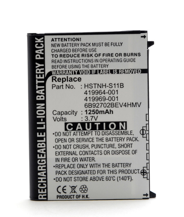 Mobile phone, PDA battery 3,7V 1250mAh for HP Compaq Ipaq 114