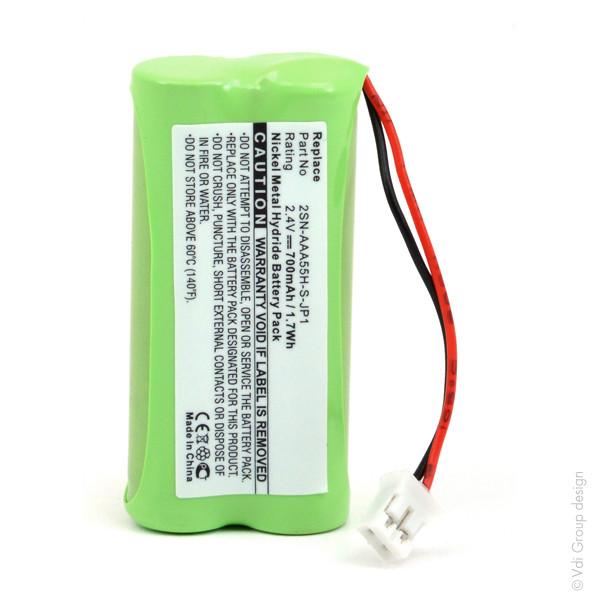 Cordless phone battery 2,4V 700mAh for Sagem D16T