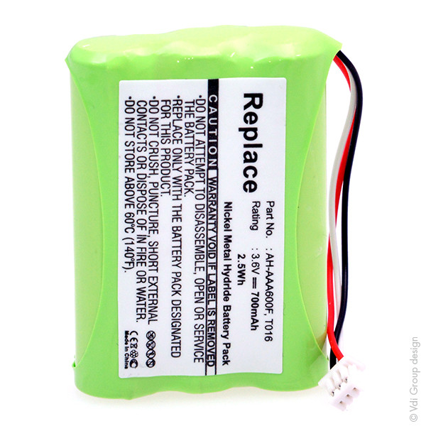 Cordless phone battery 3,6V 700mAh for Agfeo DECT 30