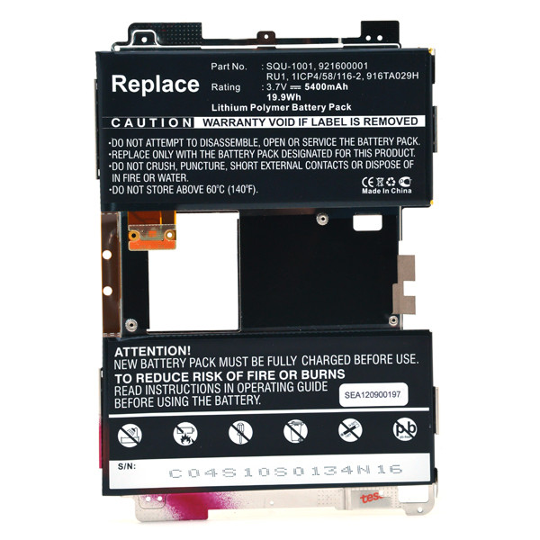 Tablet battery 3,7V 5400mAh for BlackBerry Playbook