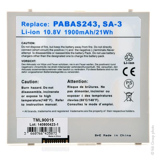 Tablet battery 10,8V 1900mAh for Toshiba AT100
