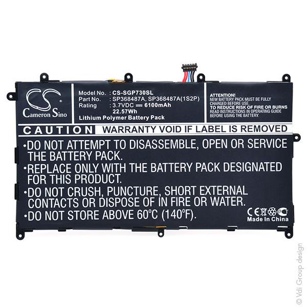 Tablet battery 3,7V 6100mAh for Samsung Galaxy Tab 8.9