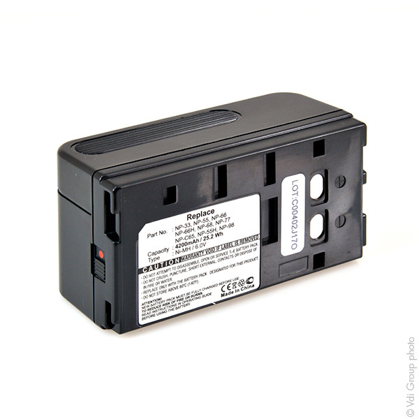 Camcorder battery 6V 4000mAh for Sony CCD-FX400E