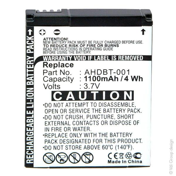Onboard Camera Battery 3,7V 1100mAh for GoPro Hero HD 1080P Digital Cameras