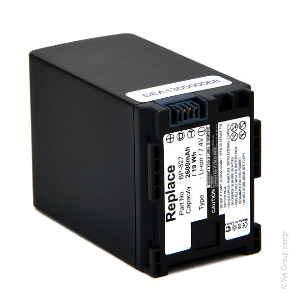 Camcorder battery 7,4V 2600mAh for Canon Vixia FS100