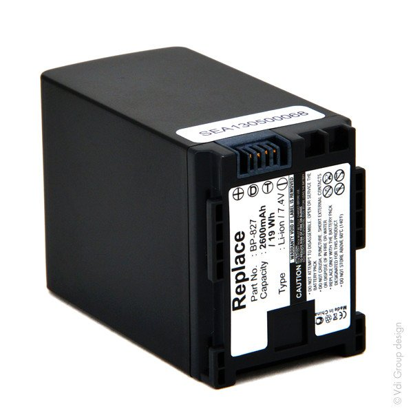 Camcorder battery 7,4V 2600mAh for Canon Vixia HF S200