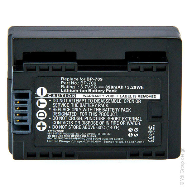 Camcorder battery 3,7V 890mAh for Canon Legria HF R306