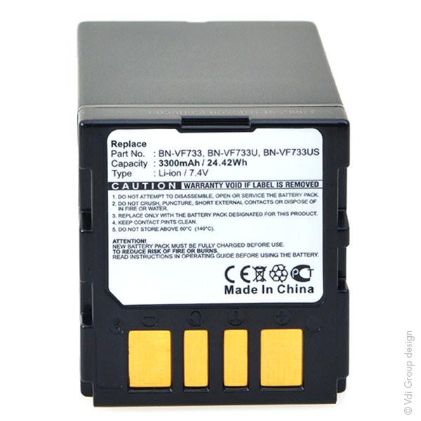 Camcorder battery 7,2V 3300mAh for JVC GR-DF470US