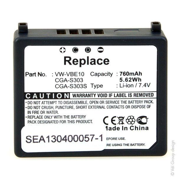 Camcorder battery 7,4V 730mAh for Panasonic SDR-S150EG-S