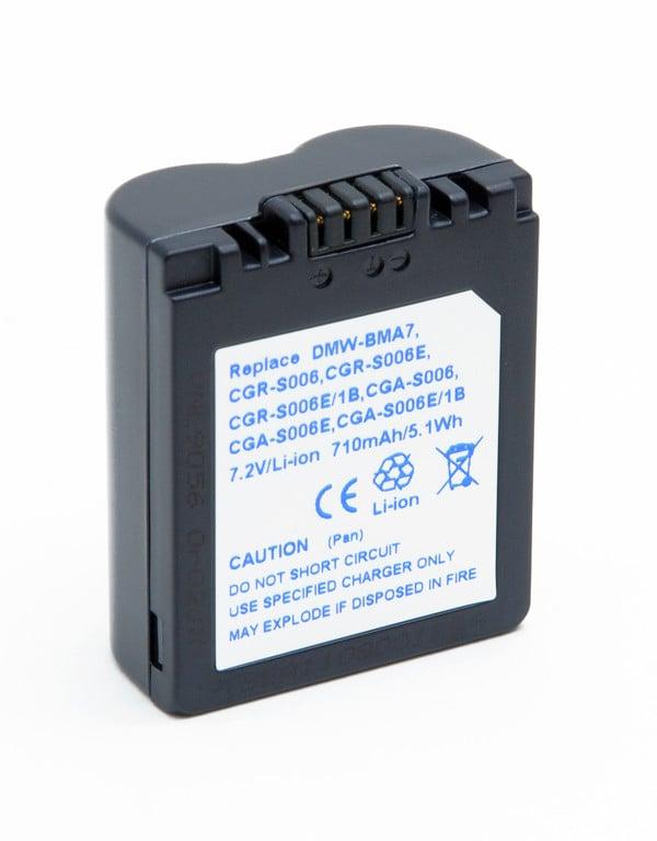 Camera battery 7,2V 710mAh for Panasonic Lumix DMC-FZ8