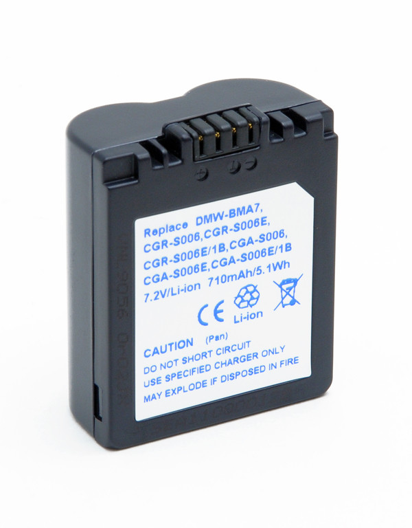 Camera battery 7,2V 710mAh for Panasonic Lumix DMC-FZ8S