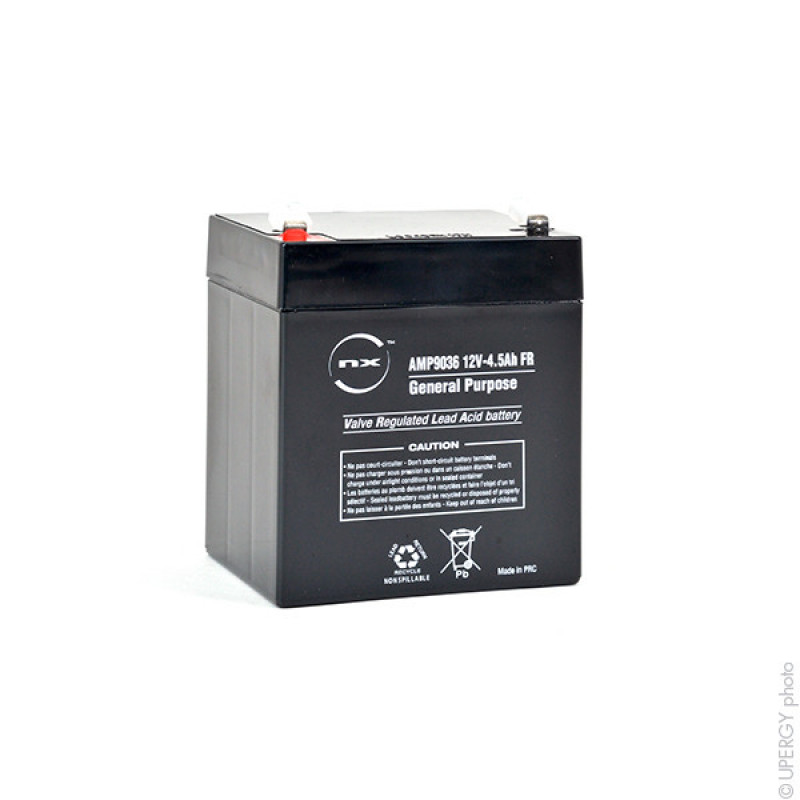 Sealed lead acid battery NX 4.5-12 General Purpose FR 12V 4.5Ah F4.8 - AMP9036