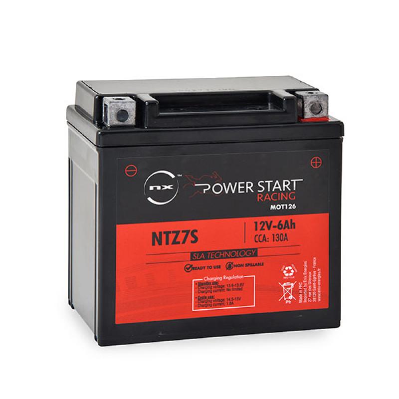 Motorcycle battery YTZ7S 12V 6Ah - MOT126